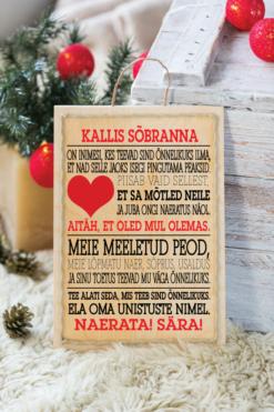 Jõulud037 // kallis sõbranna puitalusel