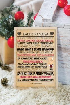 Jõulud009 // kallis vanaisa puitalusel